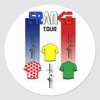 Cycling Touring France Cyclists gear Classic Round Sticker