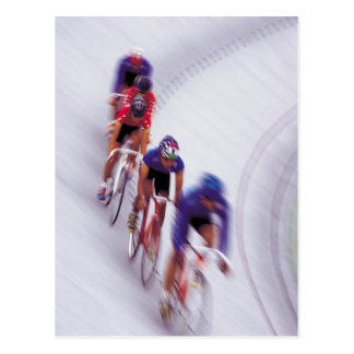 Cycling Track Race Bicycle Cycle Bicycling Postcard