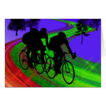 Cycling Trio on Ribbon Road Card