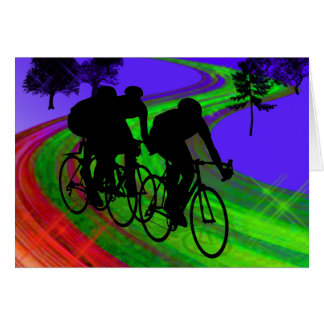 Cycling Trio on Ribbon Road Cards