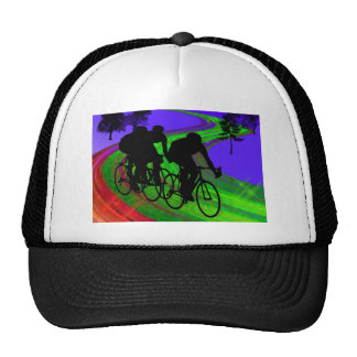Cycling Trio on Ribbon Road Hats