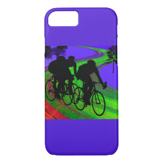 Cycling Trio on Ribbon Road iPhone 7 Case