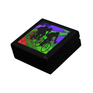 Cycling Trio on Ribbon Road Jewelry Box