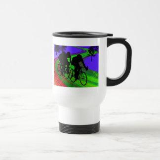 Cycling Trio on Ribbon Road Coffee Mug