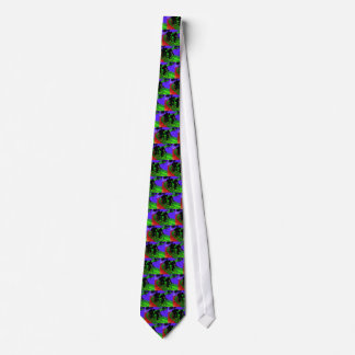 Cycling Trio on Ribbon Road Neck Tie
