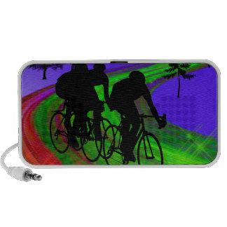 Cycling Trio on Ribbon Road Travel Speaker