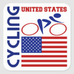Cycling United States Sticker