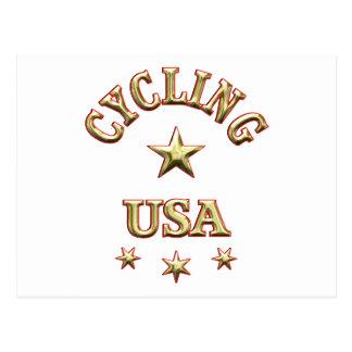 Cycling USA Postcard