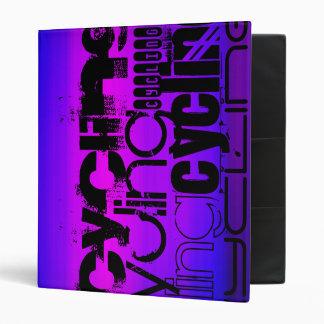 Cycling; Vibrant Violet Blue and Magenta Vinyl Binder