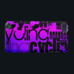 "Cycling; Vibrant Violet Blue and Magenta iPod Touch 5G Cover<br><div class=""desc"">Cool,  black  bike,  cycling,  biking,  bicycle,  cyclist,  biker,  mountain biking,  racing,    word cloud text pattern template on  pink,  purple,  violet blue,  magenta,  fuchsia color background!  Great gift for kids,  teenager,  teens,  or adults; boy or girl!  Trendy,  cute design with different fun grunge black fonts!</div>"