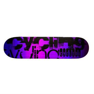Cycling; Vibrant Violet Blue and Magenta Skateboard Deck