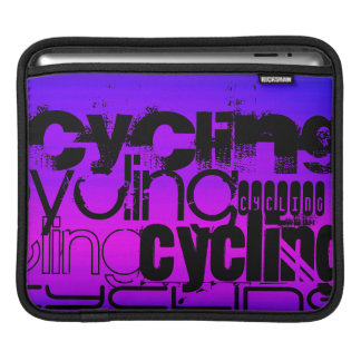 Cycling; Vibrant Violet Blue and Magenta Sleeve For iPads