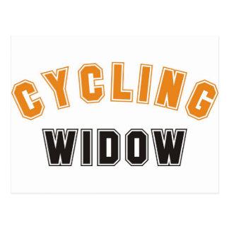 cycling widow postcard