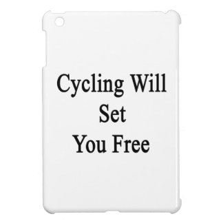 Cycling Will Set You Free iPad Mini Covers