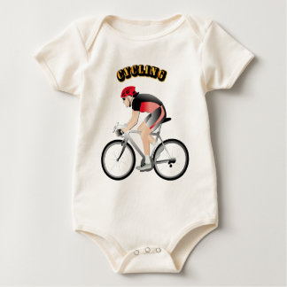 Cycling without Text Baby Bodysuit