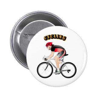 Cycling without Text Pinback Button