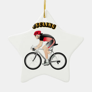 Cycling without Text Ceramic Ornament