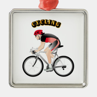 Cycling without Text Metal Ornament