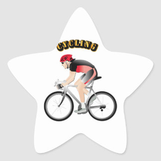Cycling without Text Star Stickers