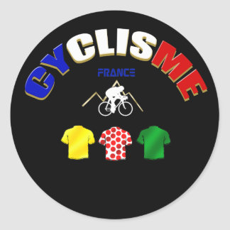 Cyclisme France Cycling Gift Ideas Classic Round Sticker
