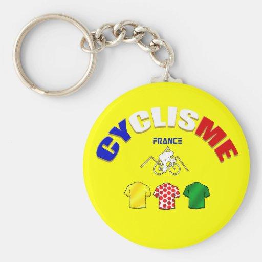 Cyclisme France Cycling Gift Ideas Keychain