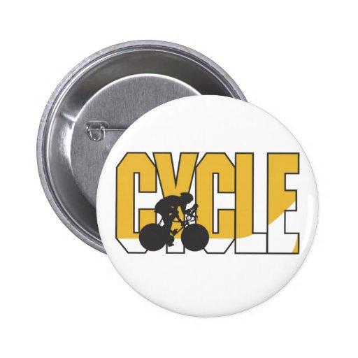 Cyclist 2 Inch Round Button