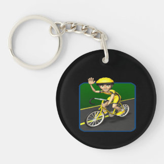 Cyclist 4 acrylic keychain