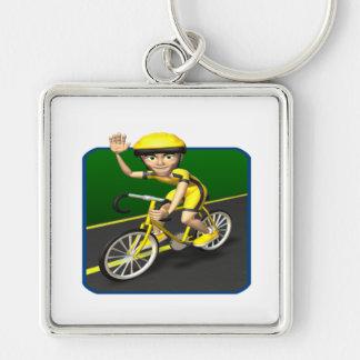 Cyclist 4 key chain