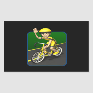 Cyclist 4 rectangular sticker