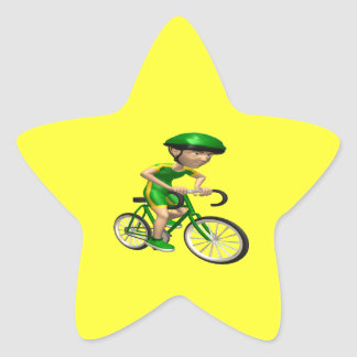 Cyclist 5 star sticker