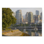 Cyclist along the Seawall Trail in downtown Greeting Card
