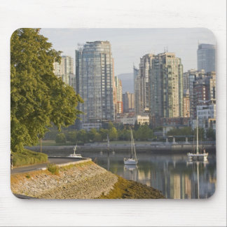 Cyclist along the Seawall Trail in downtown Mouse Pad