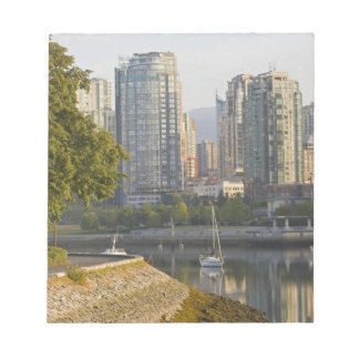 Cyclist along the Seawall Trail in downtown Notepad