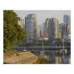 Cyclist along the Seawall Trail in downtown Poster