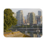 Cyclist along the Seawall Trail in downtown Vinyl Magnet