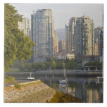 Cyclist along the Seawall Trail in downtown Ceramic Tiles