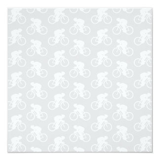Cyclist and Bicycle Pattern in Gray. Card