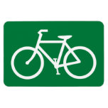Cyclist Bicycle Sign Cycle Bike Cycling Symbol Vinyl Magnets