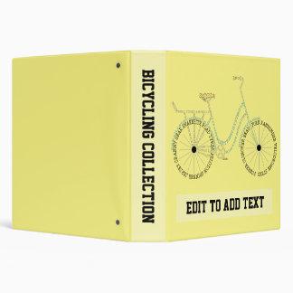 Cyclist Bicycling Bike Cycling 3 Ring Binder