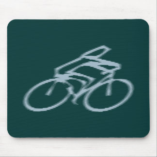 Cyclist bicyclist mouse pad