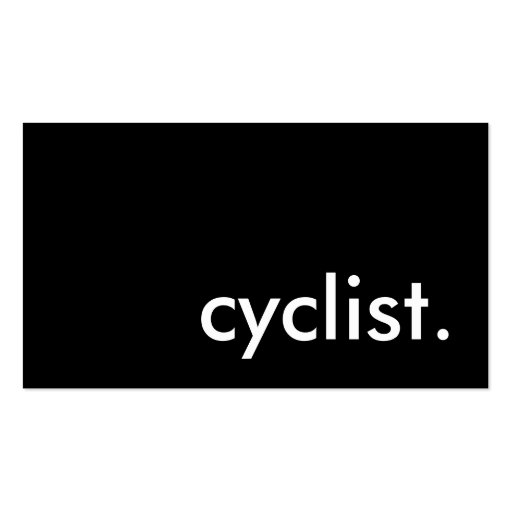 cyclist. Double-Sided standard business cards (Pack of 100)
