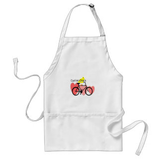 cyclist CHICK--Biking, Bicycle Enthusiast Gifts Adult Apron