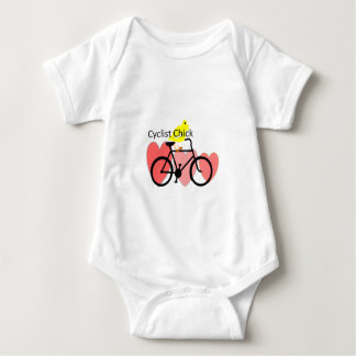 cyclist CHICK--Biking, Bicycle Enthusiast Gifts Baby Bodysuit