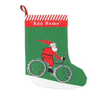 Cyclist Christmas Small Christmas Stocking