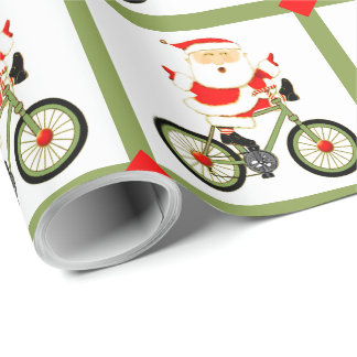 cyclist Christmas Wrapping Paper