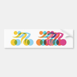 Cyclist cool and unique design bumper sticker