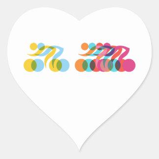 Cyclist cool and unique design heart sticker