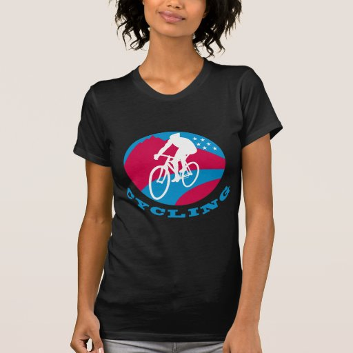 Cyclist cycling riding racing bike tees