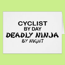 Cyclist Deadly Ninja by Night Card