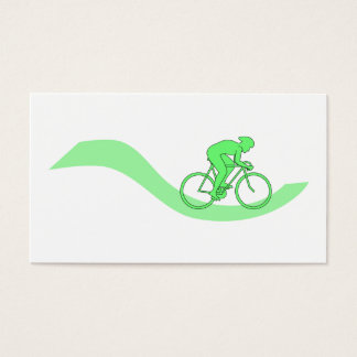 Cyclist Design in Green. Business Card